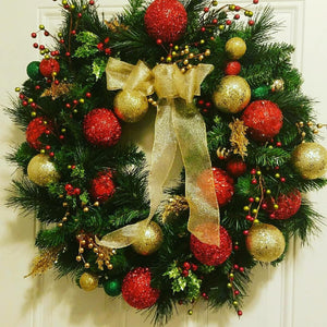 Custom Handmade Wreath - Holiday Luxe