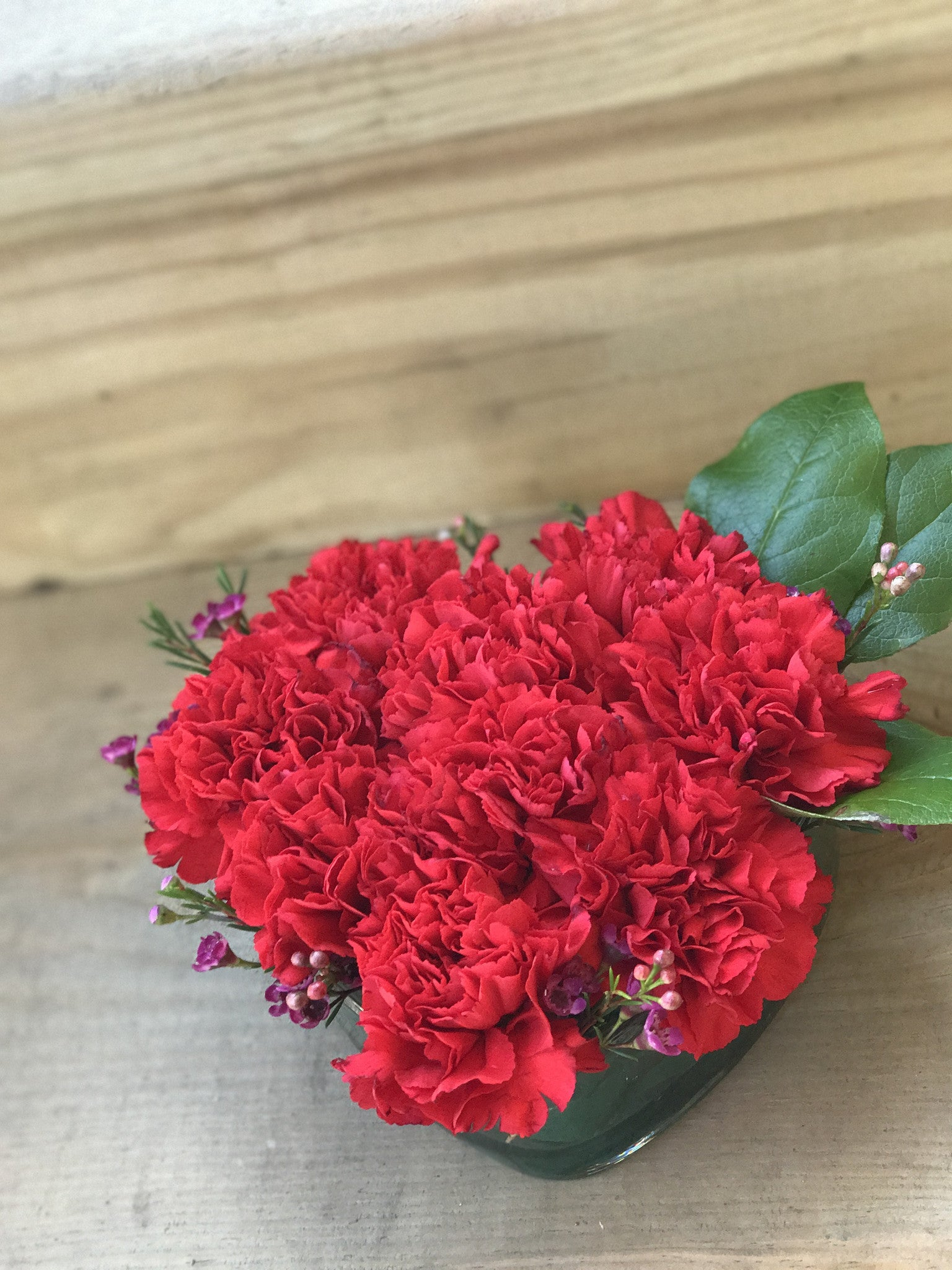 Heart Shaped Carnations