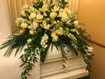 Elegant Casket Floral Display