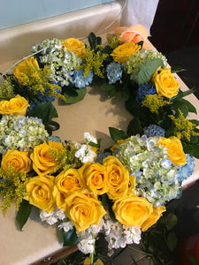 Luxury Sympathy Standing Wreath