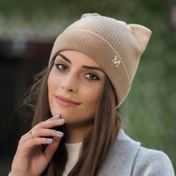 Classic Cat Lady Ears Knit Beanie
