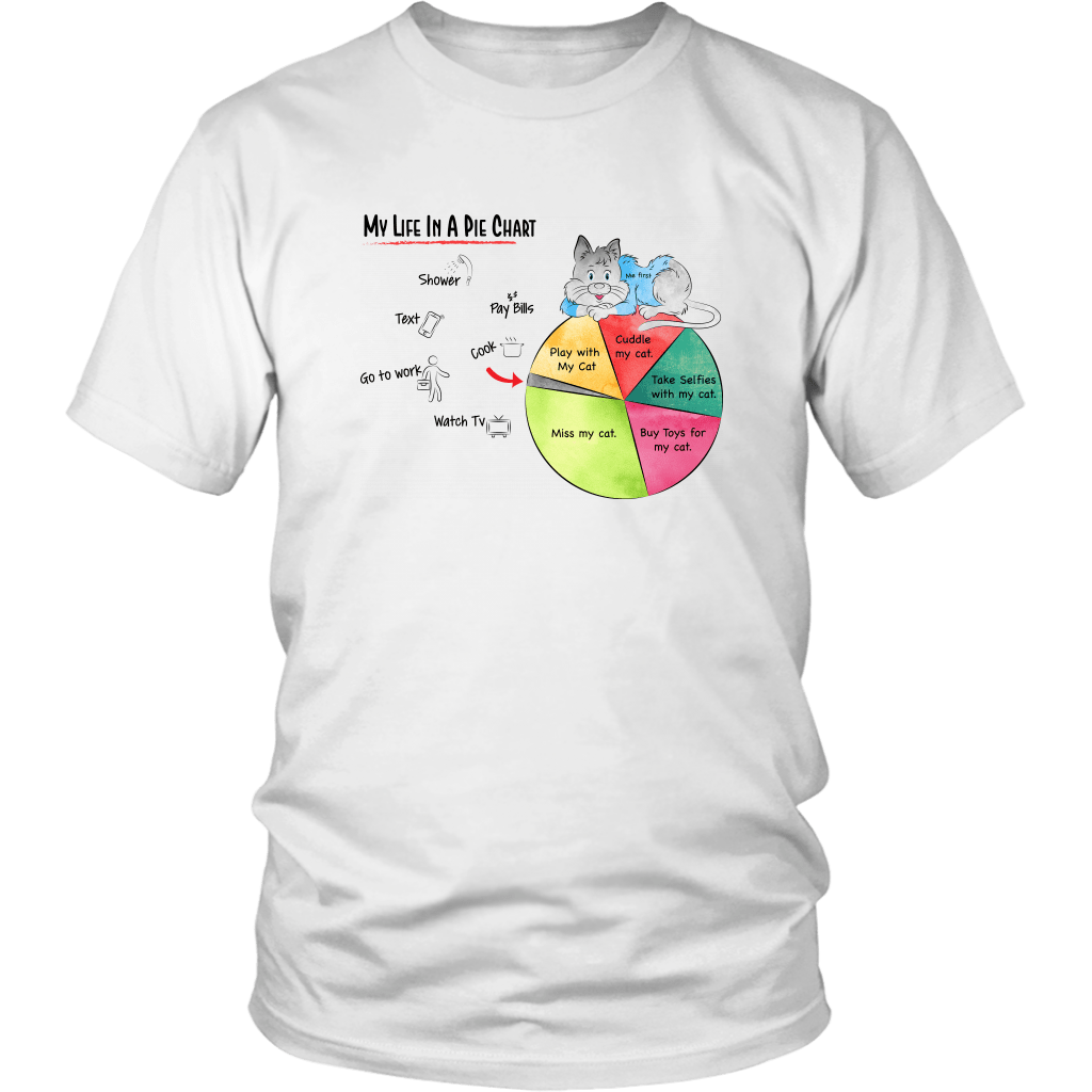 Cat Shirt- Life In A Pie Chart