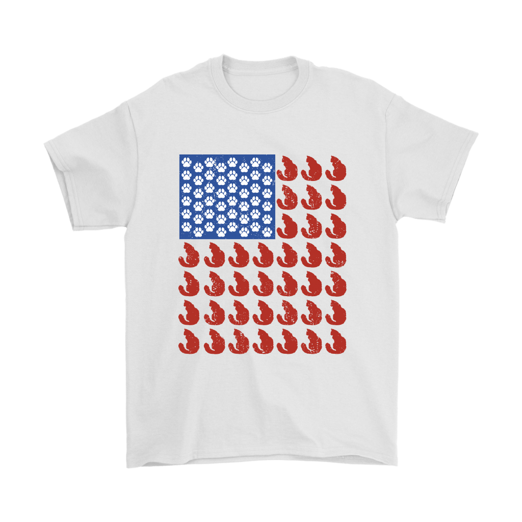 4th of July - Ameowican Flag Cat Shirt - Proud To Be American