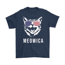 4th of July - Meowica Cat Shirt - Proud To Be American