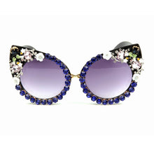Luxury Floral Vintage Cat Eyes Sunglasses