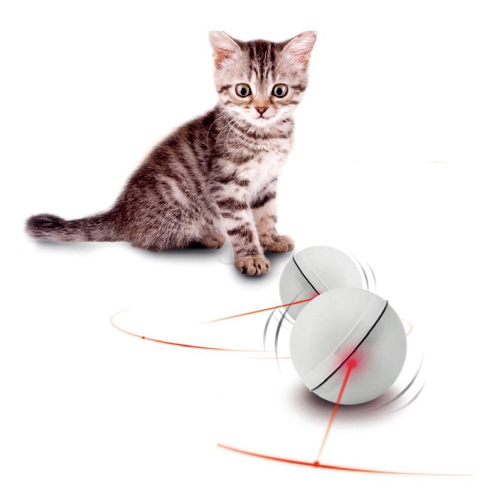 LED Laser Red Light Electronic Rolling Ball for Cats/Dogs