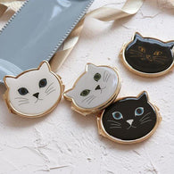 Vintage Cat Face Compact Mirror