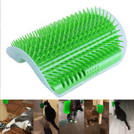Wall Cat Comb Massage Scratcher with Catnip Insert