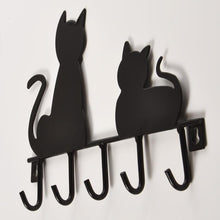 Black Cat Coat/Keys Hanger