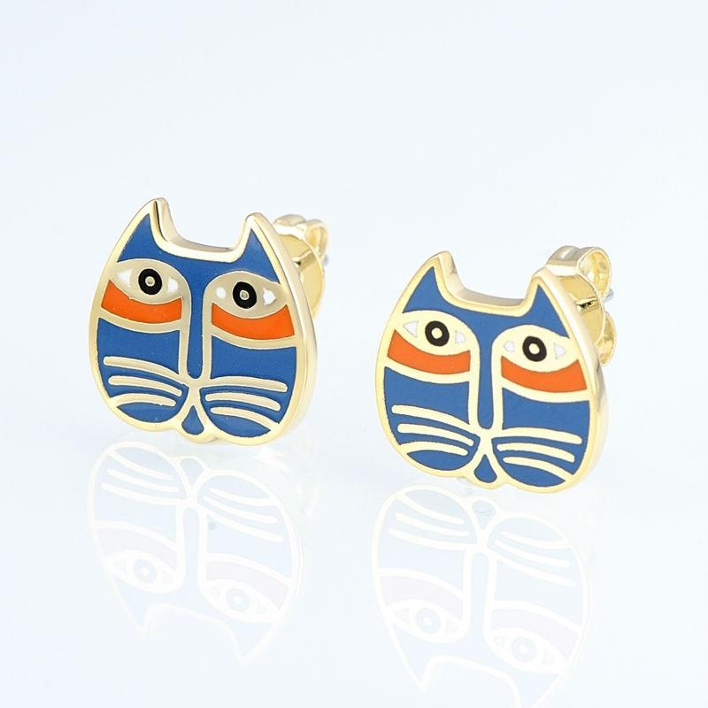 Mystic Aztec Cat Earrings