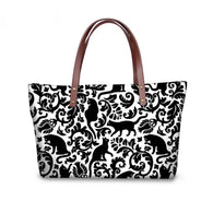 Cat Wear -Colorful Cat Print Large Messenger Bag