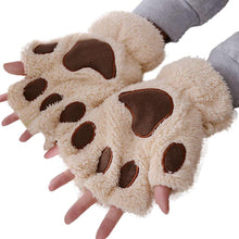 Cute Cat Claw Paw Warm Soft Gloves