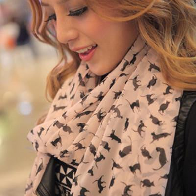 Chiffon Cat Scarf cat lovers