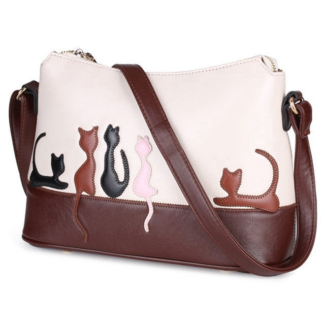 Curious Cat Leather Handbag - CatWearInc