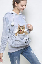 Kitty Roo Pouch Cat Carrier Sweatshirt - Ear Hoodie