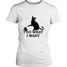 I Do What I Want Cat T-shirt