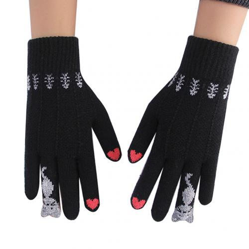 Winter Knitted Cat Gloves - Touchable Screen Gloves