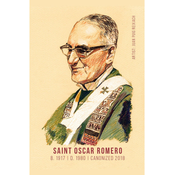 Saint Oscar Romero Prayer Card - English (Pack of 25)