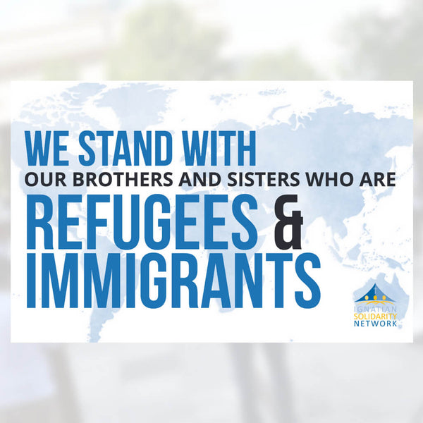 We Stand with Refugees & Immigrants Sign (Pack of 5)