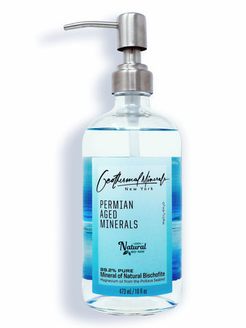 Geothermal Minerals Magnesium Oil 16 Oz, Transdermal Essential Oil for Sleep, Stress & Joint Relief
