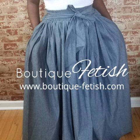 """Denim Maxi Skirt"""