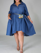 "Load image into Gallery viewer, ""Denim Hi-lo Dress"""