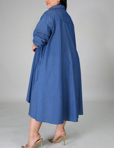 """Denim Hi-lo Dress"""
