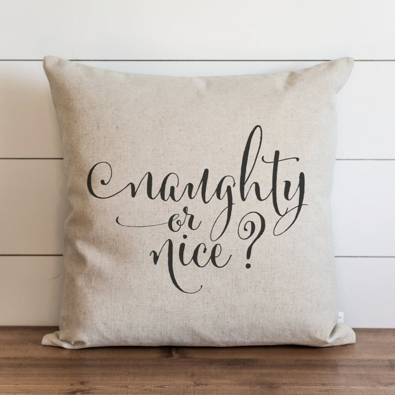 Naughty or Nice Pillow Cover. - Porter Lane Home