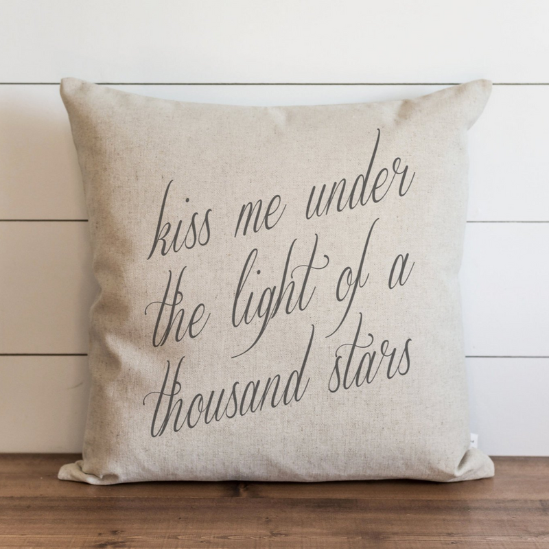 Kiss Me Under The Light Of A Thousand Stars Pillow Cover. - Porter Lane Home