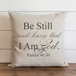 Be Still And Know Pillow Cover. - Porter Lane Home