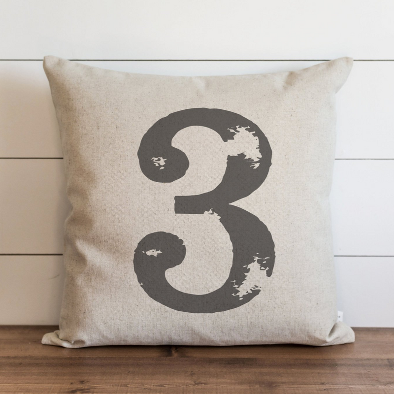 Distressed Typography Pillow Cover. - Porter Lane Home