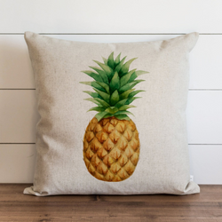 Pineapple_Watercolor Pillow Cover. - Porter Lane Home
