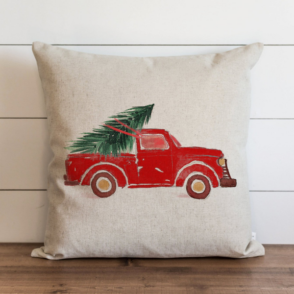Red Truck Pillow Cover. - Porter Lane Home