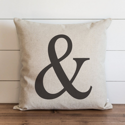 Ampersand Pillow Cover. - Porter Lane Home