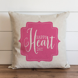 Happy Heart Day Pillow Cover. - Porter Lane Home