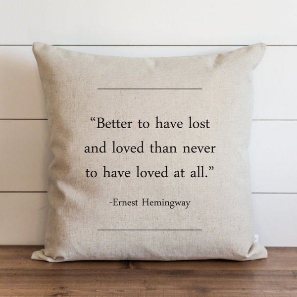 Book Collection_Ernest Hemmingway Pillow Cover. - Porter Lane Home