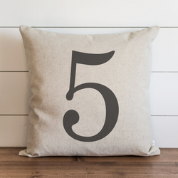 Customized Number Pillow Cover. - Porter Lane Home