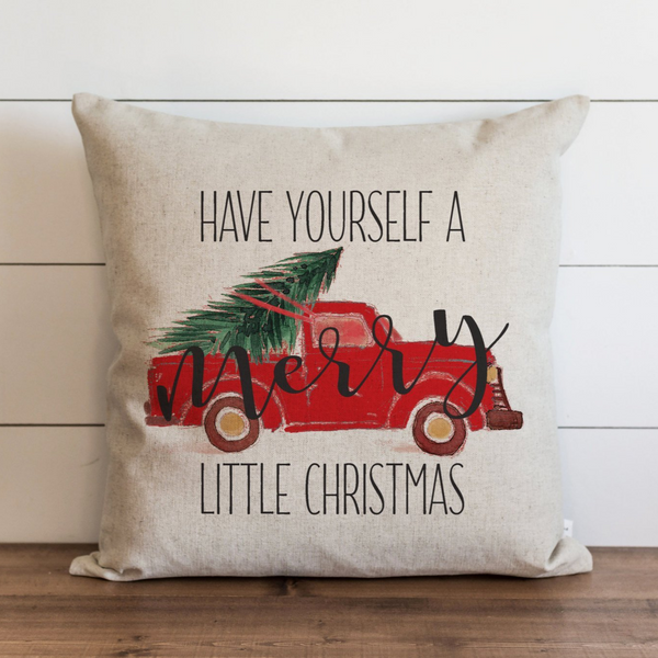 Have Yourself A Merry Little Christmas_Truck Pillow Cover. - Porter Lane Home