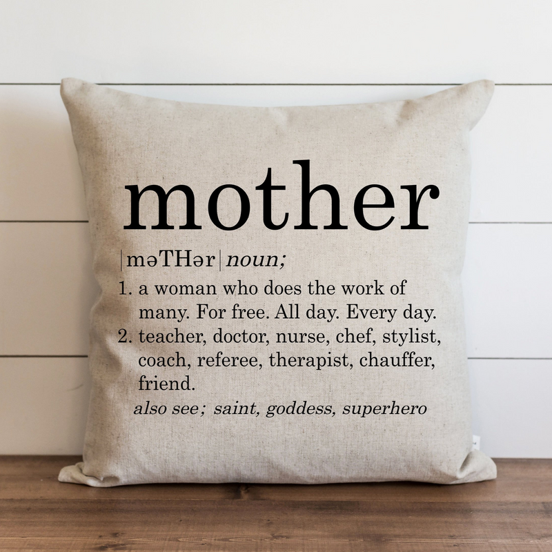 Mother Definition Pillow Cover. - Porter Lane Home