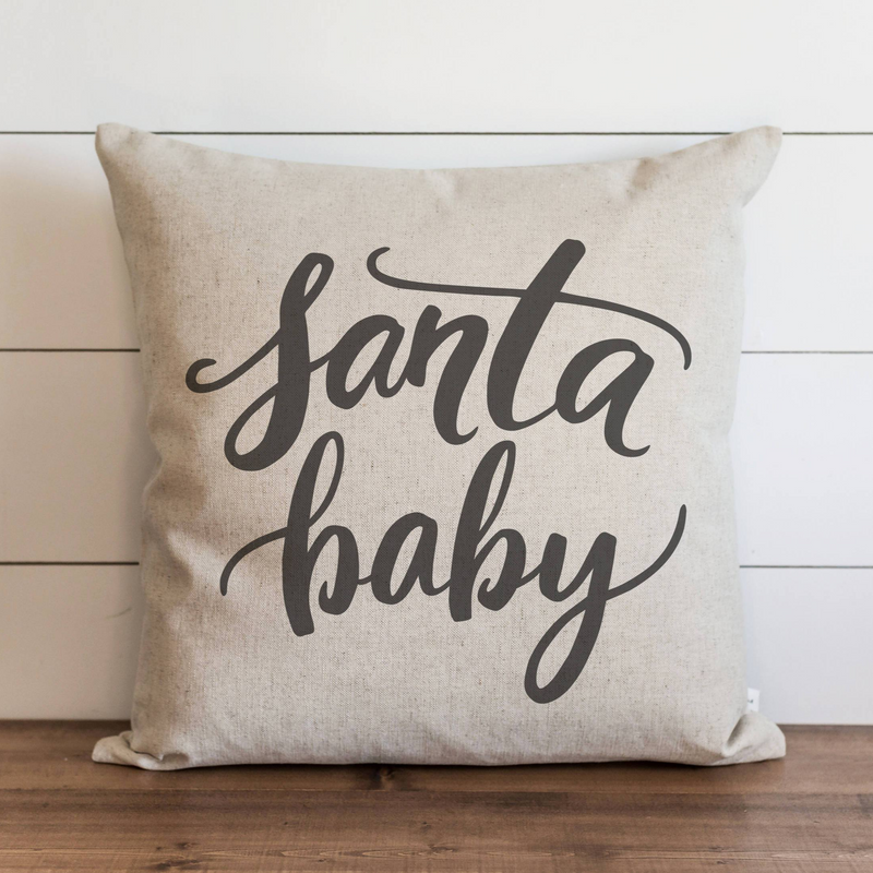 Santa Baby Pillow Cover. - Porter Lane Home