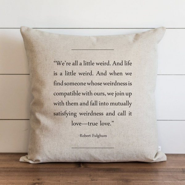 Book Collection_Robert Fulghum Pillow Cover. - Porter Lane Home