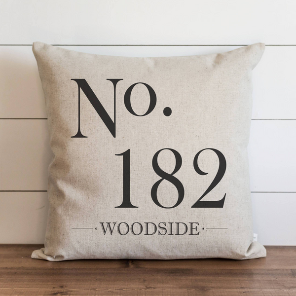 Custom No. Last Name Pillow Cover. - Porter Lane Home