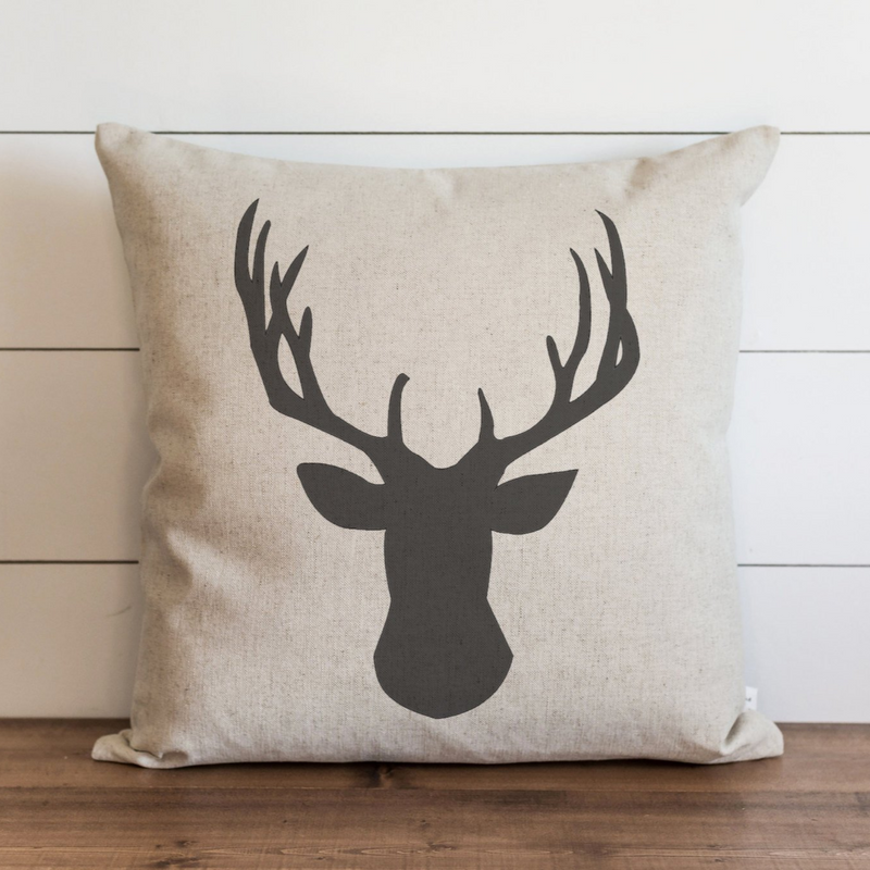 Deer Head Pillow Cover. - Porter Lane Home