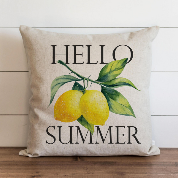 Hello Summer_Lemons Pillow Cover. - Porter Lane Home