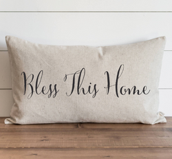 Bless This Home Pillow Cover. - Porter Lane Home