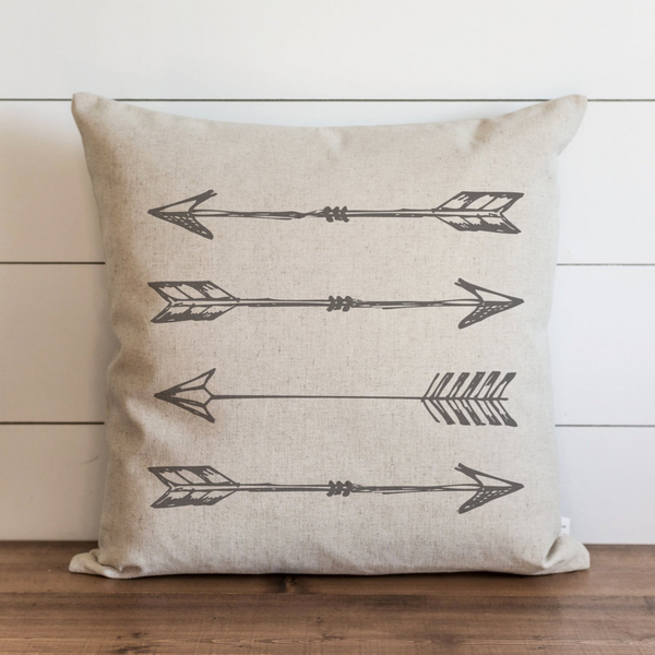 Arrows_Gray Pillow Cover. - Porter Lane Home