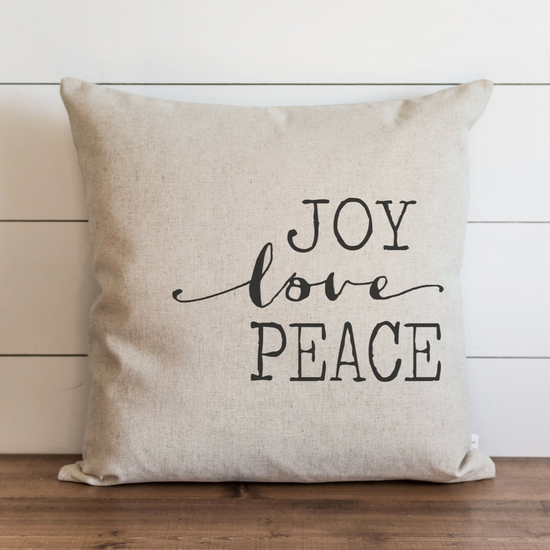 Joy, Love, Peace Pillow Cover. - Porter Lane Home