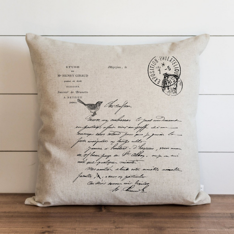 French Letter Pillow Cover. - Porter Lane Home