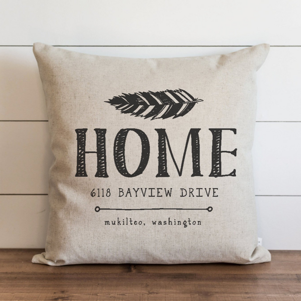 Personalized Home_Address Pillow Cover. - Porter Lane Home