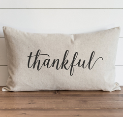 Thankful Pillow Cover {Style 2}.